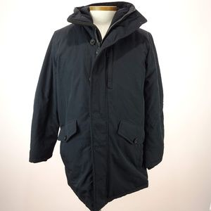 Michael Kors Mens Black Parka Coat Hooded Jacket
